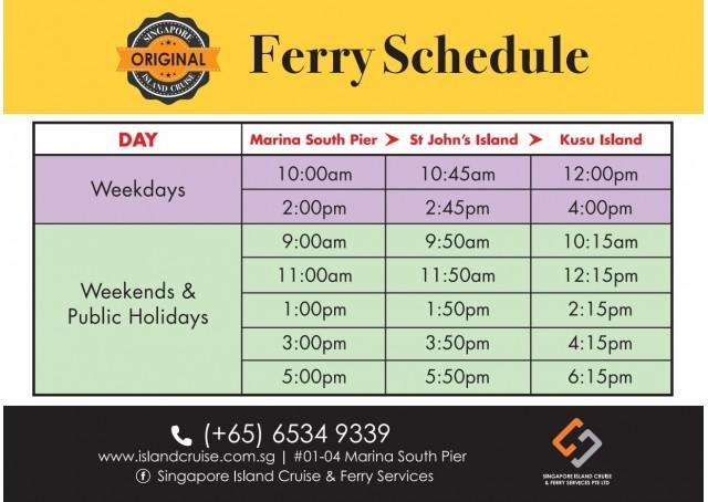 St John's & Kusu Island Ferry Ticket